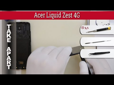 How to disassemble 📱 Acer Liquid Zest 4G Z525 / Z528 Take apart Tutorial