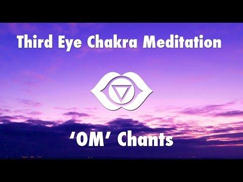 1 Hour Magical Chants for Third Eye Chakra Meditation [ OM ] | Chakra Healing Open Music