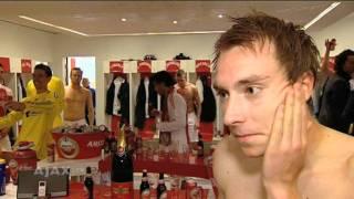 Feest in de kleedkamer