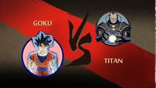 SUPER SAIYAN vs TITAN (Final Boss Rage Moment) Shadow Fight 2 Mod