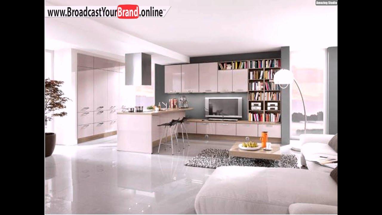 Wunderschöne Hochglanz Küche Wohnzimmer - YouTube