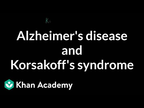 Alzheimer's disease and Korsakoff's syndrome | Processing the Environment | MCAT | Khan Academy