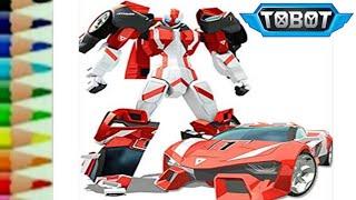 Tobot Athlon Champion Transformers CarBot - Belajar menggambar kartun robot lucu untuk anak - 또봇 toy