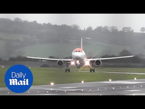 Planes struggle to land at Bristol Airport as Storm Callum brings wind