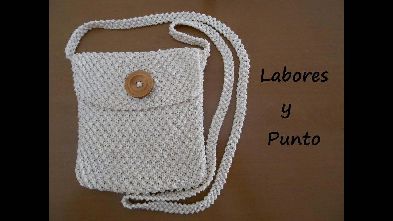Aprende a tejer un bolso pequeño de colgar en dos agujas Parte 1 de 3 , YouTube