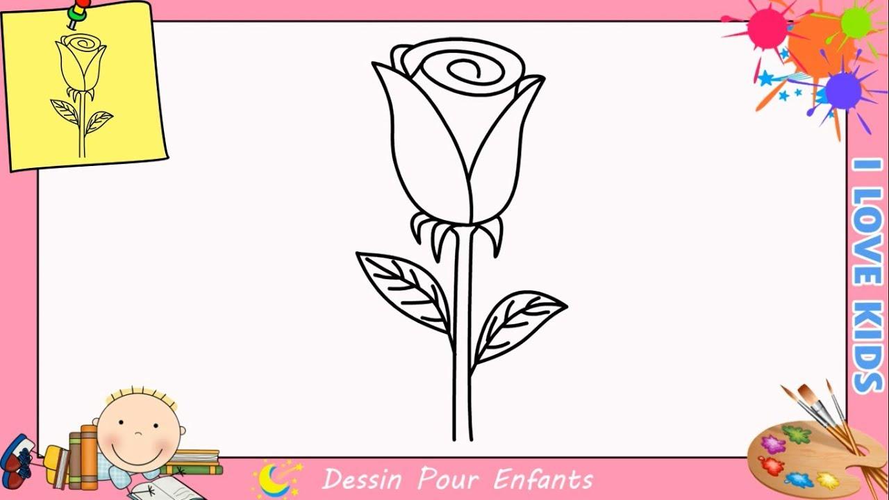 Comment Dessiner Une Rose Facilement Etape Par Etape Pour Les Debutants 2 Youtube