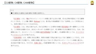 C3植物, C4植物, CAM植物 【高校生物】