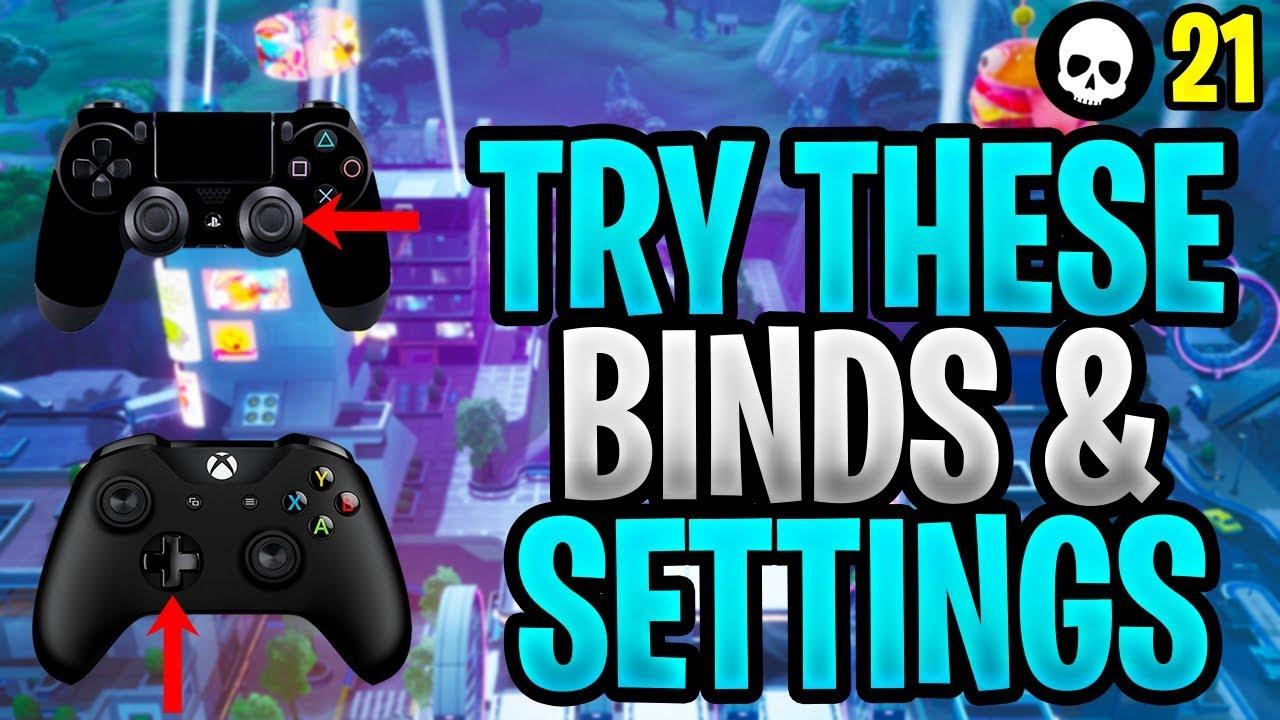 Controller-Spieler MÜSSEN diese Bindungen / Einstellungen ausprobieren! (Fortnite Custom Binds - Xbox PS4) + video