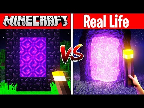 MINECRAFT PORTAL IN REAL LIFE! (MINECRAFT vs REAL LIFE)
