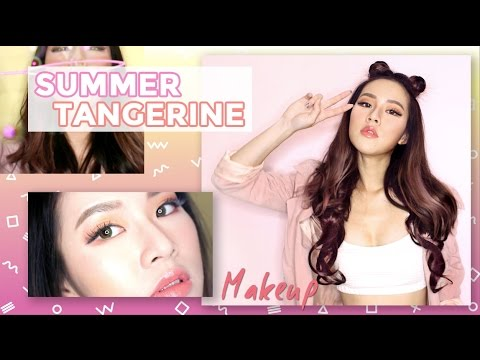✿ Summer Tangerine Makeup + Korean Makeup Haul ✿