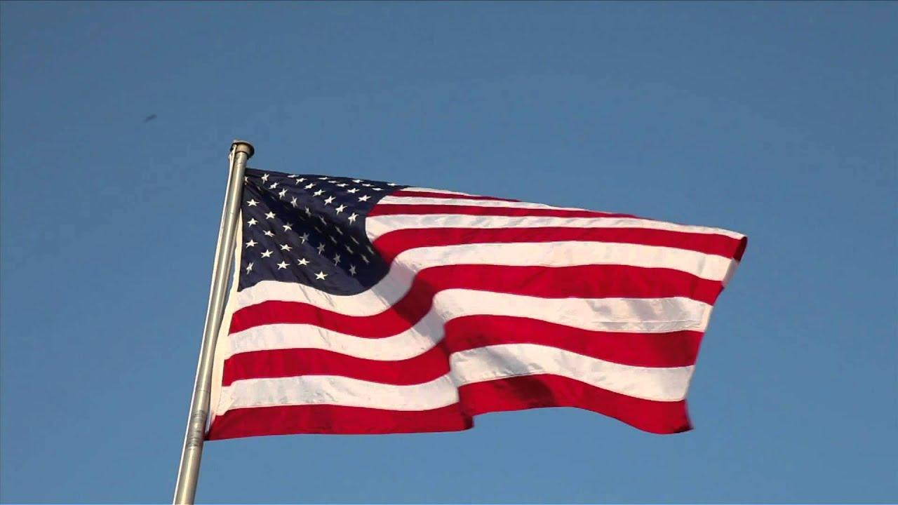 Waving American Flag Hd Youtube
