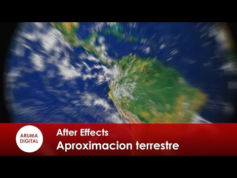 After Effects 167 Aproximacion zoom terrestre