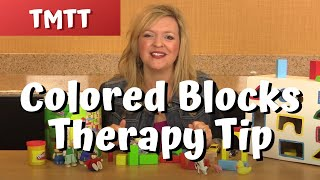 Colored Wooden Blocks In Speech Therapy With Toddlers...therapy Tip Of The Week 8.7.14