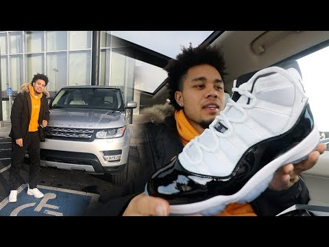 $220 FOR THESE?? AIR JORDAN 11 CONCORD RANGE ROVER SPORT MALL/PICKUP VLOG!!