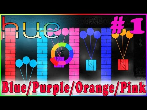 HUE Walkthrough Gameplay | Blue - Purple - Orange - Pink | PC Full Game HD No Commentary Complete