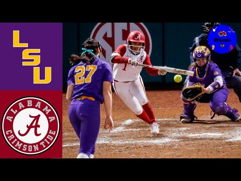 Download #9 LSU vs #6 Alabama Highlights (Game 1)   2021 College Softball Highlights