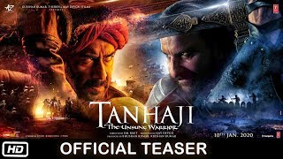 Tanhaji The Unsung Warrior Teaser | Tanhaji First Look Poster | Ajay Devgn | Saif Ali | Kajol | 2020