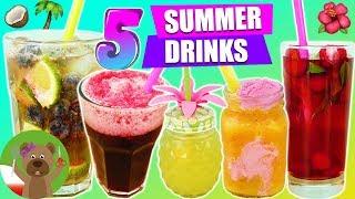 5 pomysłów na letnie drinki, koktajle, napoje...| Ice tea Smoothie Cocktail Slushy
