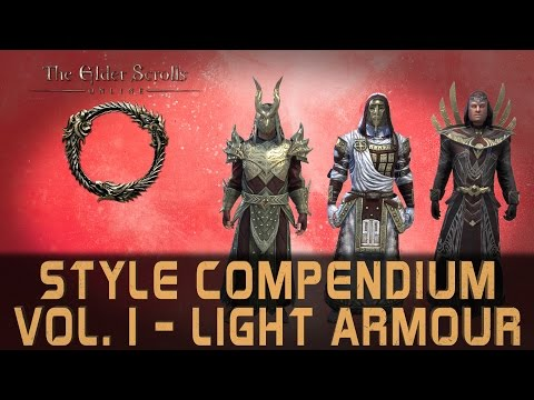 Elder Scrolls Online Style Compendium Vol. 1 | All 30 Light Armour Styles - Mid 2016 | Male & Female
