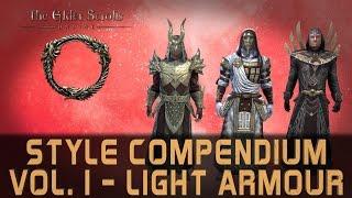Elder Scrolls Online Style Compendium Vol. 1 | All 30 Light Armour Styles - Mid 2016 | Male & Female