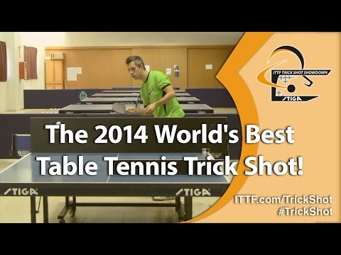 The 2014 World's Best Table Tennis Trick Shot!