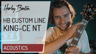 Harley Benton - Custom Line - King-CE NT - Jumbo Acoustic Guitar - Presentation -