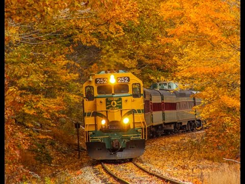 Conway Scenic RR Foliage Notch Train. 2015-10-23 White Mountains NH