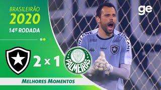 BOTAFOGO 2 X 1 PALMEIRAS | MELHORES MOMENTOS | 14ª RODADA BRASILEIRÃO 2020 | ge.globo