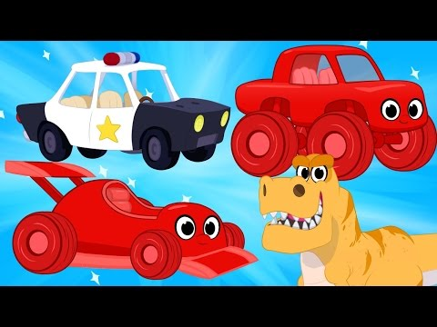 Thumbnail: Race Cars, Police Cars, Dinosaurs, trucks + firetrucks superheroes(Morphle's Crazy Dream Kids Video)