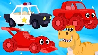 Race Cars, Police Cars, Dinosaurs, trucks + firetrucks superheroes(Morphle's Crazy Dream Kids Video)