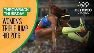 Women's Triple Jump Final at Rio 2016   Throwback Thursday