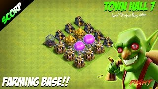 Clash Of Clans 💥 TH7 FARMING BASE 💥 LOOT PROTECTION BASE