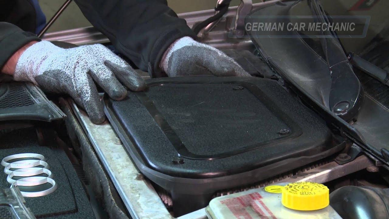 Audi A 8 Innenraumfilter Pollenfilter Wechseln