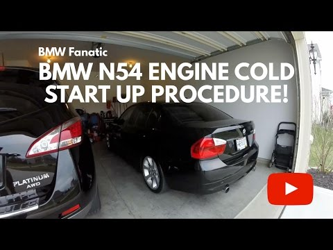 BMW 135i 335i 535i N54 Engine Cold Start Up Procedure!