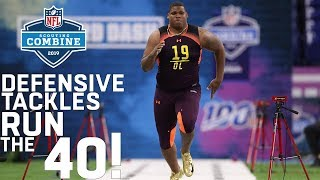 Defensive Tackles Run the 40-Yard Dash | 2019 NFL Scouting Combine Highlights