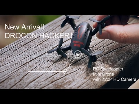 Drocon GD-60 Hacker Micro 720p Camera Drone Flight Test Review