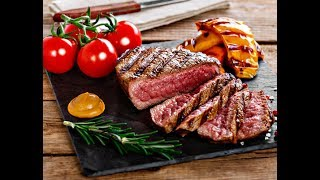 Как жарить стейк из говядины на сковороде! Сколько времени жарить стейк!