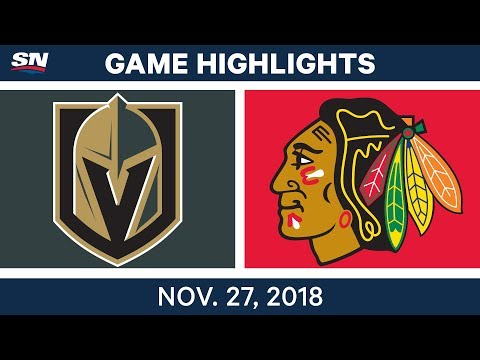 NHL Highlights | Golden Knights vs. Blackhawks - Nov 27, 2018