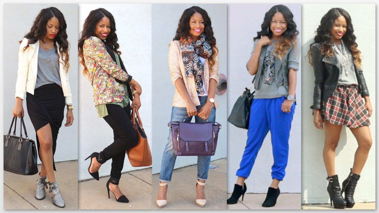 fall fashion trends lookbook youtube