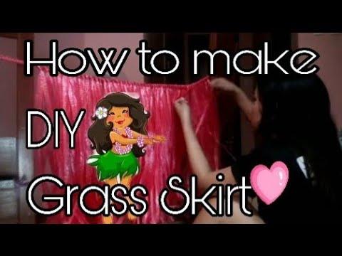 How to make a DIY Grass Skirt #GrassSkirt | #Hawaiiancostumes