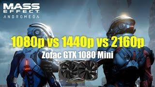 Zotac GTX 1080 Mini Benchmark with Mass Effect Andromeda - 1080p vs 1440p vs 4k uhd