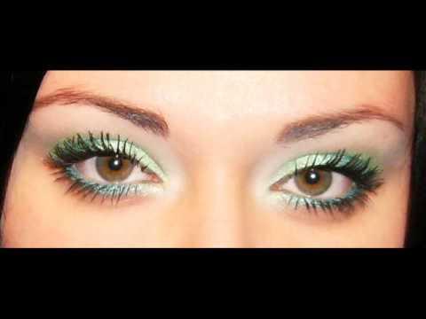 Makijaż Zielony Seledyn I Limonka Krok Po Kroku Youtube
