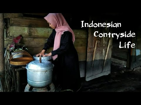 Gadis Desa Memasak Masakan Yang Lezat Untuk Ibu traditional Me