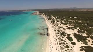DJI Phantom 3 Mallorca from Es Trenc to Ses Covetes