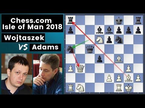The Great Blunder - Wojtaszek vs Adams | Chess.com Isle of Man International 2018 Rd 8