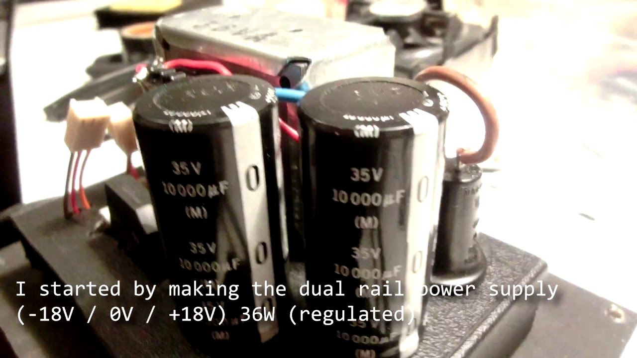 30 Watts Stereo Speaker Build Amp Cabinet Dual Rail Supply Audio Frequency Amplifier 20w Based Lm1875 Youtube