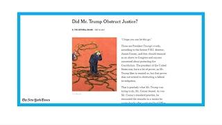 'Did Mr  Trump obstruct justice?'