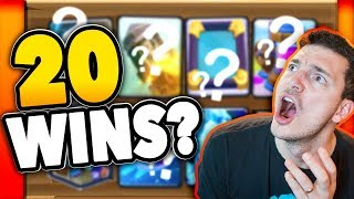 20 WIN CHALLENGE - Let's Go! (Clash Royale Nickatnyte)