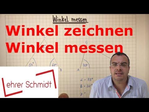 Winkel zeichnen - Winkel messen | Mathematik | Geometrie