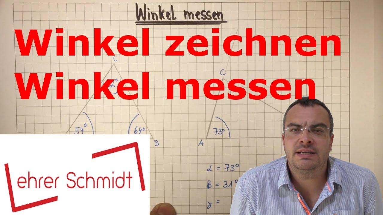 winkel zeichnen - winkel messen | mathematik | geometrie - youtube